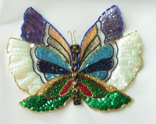 Tambour Beaded Butterfly
